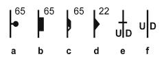 Fold block separation symbols.
