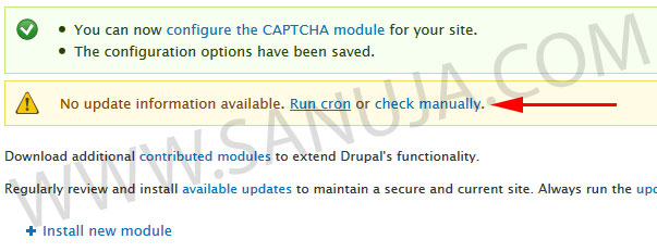 Checking for Drupal updates.