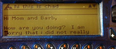 "AOL Pager: Message is too long? ""Hi mom, How r u doing?""... would be better."