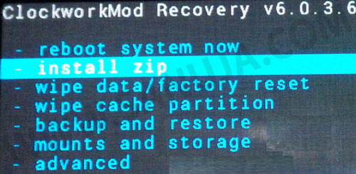 ZIP folder installation choice.