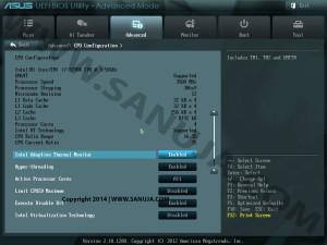 Advanced Intel CPU BIOS options-CPU Configurations