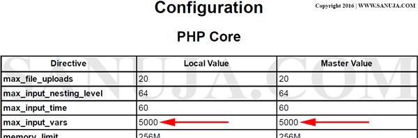 PHP Server Configuration Data