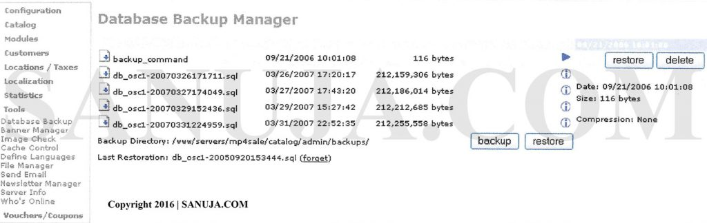 Dynamic Data Backup from server.